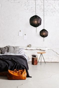 Discover Modern examples of Minimalist Bedroom Decor Ideas design in your home. See the best designs for your interior bedroom. Home Bedroom, Bedroom Decor, Bedroom Ideas, Bedroom Loft, Bedroom Designs, Budget Bedroom, Dream Bedroom, Brick Bedroom, Master Bedroom