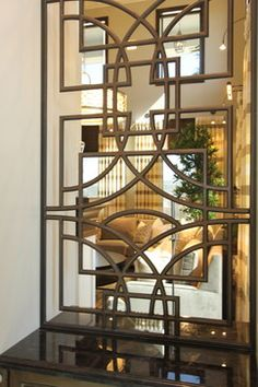 Iron Work, hand forged custom Iron stairway for Luxury Home in So. Cal - traditional - living room - san diego - Robeson Design