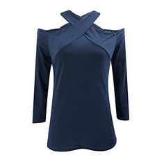 85c9d3de3 iBOXO Women s Casual Long Sleeve Plus Size Loose Pullover Tee Shirts Blouse  Tops Tunic