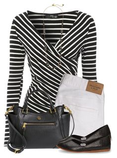 """""""Black and White"""" by daiscat ❤ liked on Polyvore featuring Jane Norman, Abercrombie & Fitch, Tory Burch, TOMS and Kate Spade"""