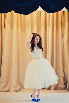 Beaded Sleeve Tulle Dress  Louisa by alexandrakingdesign on Etsy, £1150.00