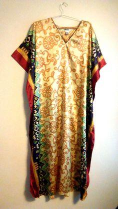 Jewel Multi Colored Vintage Moroccan Print Kaftan Maxi Maxi Dress. Free shipping and guaranteed authenticity on Jewel Multi Colored Vintage Moroccan Print Kaftan Maxi Maxi DressVintage Winlar kaftan dress. Moroccan jewel print ...