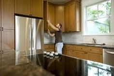 You can remodel your kitchen cheaply by choosing unfinished cabinets. Installing Kitchen Cabinets, Refacing Kitchen Cabinets, Cabinet Refacing, Maple Cabinets, Cabinet Makeover, Kitchen Cupboards, Unfinished Cabinets, Laminate Cabinets, Built In Cabinets