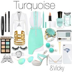 "Set on polyvore.com #25 ""Turquoise"""