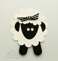 adorable little lamb punch art...