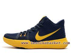 Nike Kyrie 3 ID 852395_I006 Bleu Jaune Chaussures NIke prix Pour Homme
