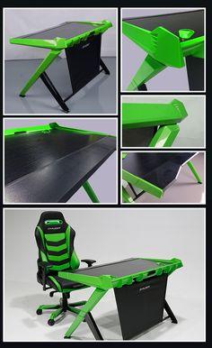 DXRacer Green fashion Style Desk.#bloghomeidea #olioliteam #arquitetura #ambiente #archdecor