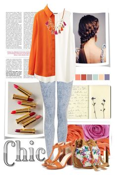 """""""Chic and bright"""" by artistic-biscuit ❤ liked on Polyvore featuring Moleskine, Albeit, Topshop, H&M, Uniqlo, Bar III, Seed Design and Apt. 9"""