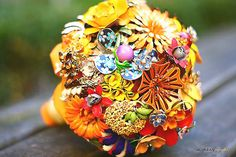 Fall Bridal Bouquets with Brooches | There are so many choices for what to do as your wedding bouquet these ...