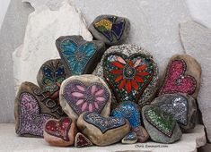 Mosaic Garden Stones by Chris Emmert, via Flickr