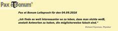 Pax et Bonum Leitspruch für den 04.09.2016