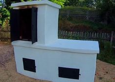 Smokehouse, Pizza Oven, Garden Grill - DIY Tutorial: 7 Steps (with Pictures) - Monica DIY Built In Bbq Grill, Diy Grill, Grill Oven, Backyard Signs, Backyard Barbeque, Backyard Ideas, Brick Grill, Brick Ovens, Grill Gazebo