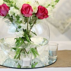 Fish Bowl Vase. 25cm. Perfect for wedding centrepieces. Premium quality. NZ's #1 retailer of wedding & events supplies. Price beat guarentee. Check out the full range here...