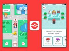 Pokemon Go Redesign by Gregory Hartman #Design Popular #Dribbble #shots