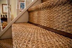 Seagrass Carpet Stairs — Interior Home Design Carpet Diy, Wall Carpet, Beige Carpet, Carpet Stairs, Patterned Carpet, Rugs On Carpet, Yellow Carpet, Basement Carpet, Carpet Decor