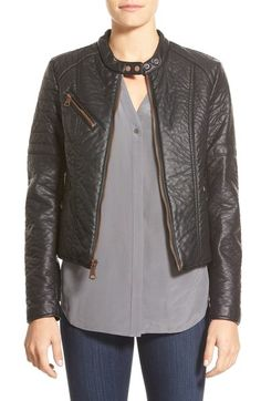 Marc New York 'George' Faux Leather Moto Jacket available at #Nordstrom