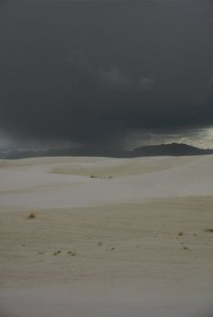 Picture - Storm clouds over White Sands National Monument. | PlanetWare