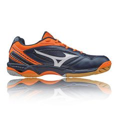 Mizuno wave #hurricane mens #orange blue badminton #court sports shoes trainers, View more on the LINK: http://www.zeppy.io/product/gb/2/291579625668/