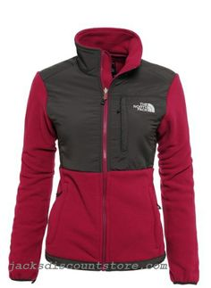 discount gift North Face Women Red Denali Jacket for cheap