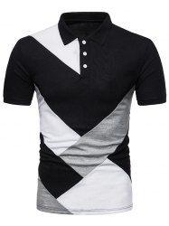 Diagonal Print Panel Color Block Polo T-shirt Mobile Golf Polo Shirts, Short Sleeve Polo Shirts, Men's Shirts, Polos Lacoste, Discount Mens Clothing, Thing 1, Manga, Casual Shirts, Shirt Designs