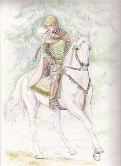 """eldamaranquendi: """"Glorfindel… by """" Lotr, Elven Names, History Of Middle Earth, Glorfindel, Man Illustration, Watercolor Sketch, Character Drawing, Lord Of The Rings, Tolkien"""