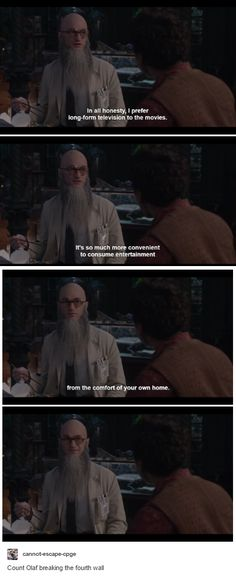 A Series of Unfortunate Events, Count Olaf promoting Netflix