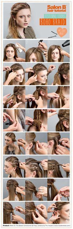 The Boho Braid. From the Salon B festival hair bar
