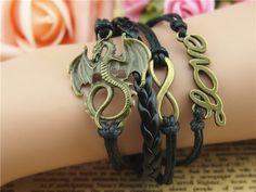 Wristbands & Bracelets – handmade jewellery dinosaur LOVE fashion bracelet – a unique product by charmbracelet on DaWanda
