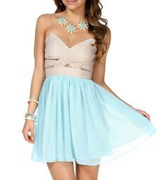Elly- Nude/Mint Short Prom Dress
