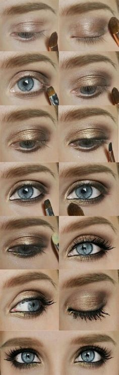 Brightly Golden Eye Shadow Tutorial i love this look!