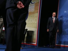 106 10/4/12 Republican presidential candidate, former Massachusetts Gov. Mitt Romney arrives at the regional Conservative Political Action Conference (CPAC) on October 4, 2012 in Denver, Colorado. One day after the first presidential debate, Mitt Romney spoke to the CPAC before heading to Virginia to campaign with his running mate Rep. Paul Ryan (R-WI). (Photo by Justin Sullivan/Getty Images)