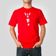 The Throw Tee in Red