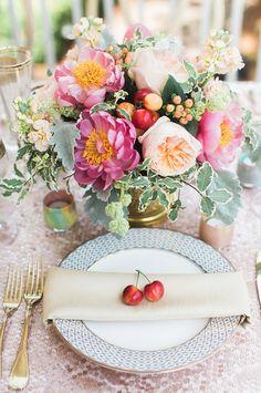 Decoracion de boda con frutas