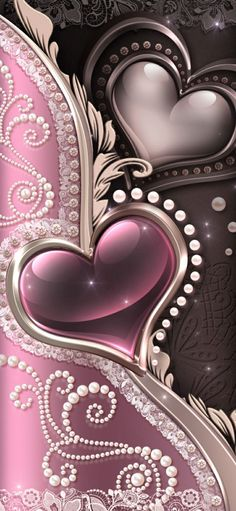 Pretty Backgrounds, Wallpaper Backgrounds, Cellphone Wallpaper, Iphone Wallpaper, 2 Clipart, Bling Wallpaper, Pink Love, Peace And Love, Hearts