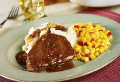 This elegant dish is ready is less than 30 minutes...it features filet mignons complemented by an easy-to-make gravy.  What a perfect dish for special occasions!