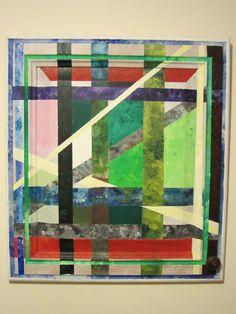 'Garden window 2' 2000 acrylic on kitchen cupboard door.