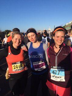 Pre-race with my girls Carol and Rebecca at the Brighton Half Marathon 2014