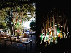 bottle chandelier would be fantastic over an at-home bar