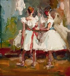 Ballerina Study, Lisa Noonis, oil, 11x11