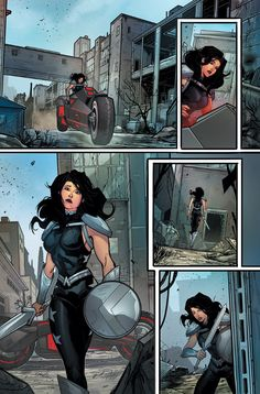 Titans fill-in Page 12 written by Dan Abnett drawn by ME colors by Ivan Plascencia DC Comics Dc Comics Women, Dc Comics Art, Marvel Dc Comics, Cosmic Comics, Comics Girls, Character Drawing, Comic Character, Character Design, Comic Books Art