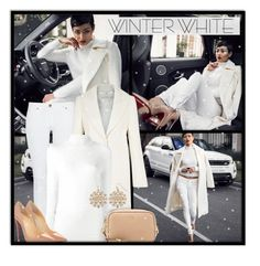 """""""#599 - Winter White"""" by lilmissmegan ❤ liked on Polyvore featuring Michael Kors, Kaliko, Equipment, Christian Louboutin, Tom Ford, Winter, blogger, winterstyle, winterwhite and blogstyle"""