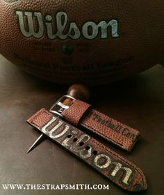 What better way to show your love of football than with a watch strap made from a ball? Perfect for football season!