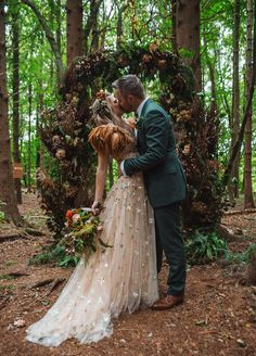 WILLOWBY Orion wedding dress for an outdoor wedding in the forest   One Fab Day