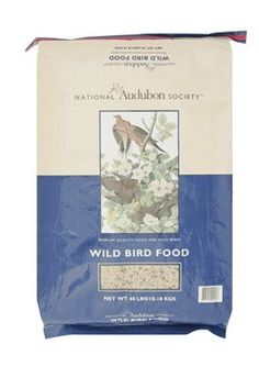 $23.33-$32.99 BIRDSEED WILD 40#AUDUBON - Sold as one unit. (1 unit = each.) Contains black oil sunflower, stripe sunflower, white millet, milo and cracked corn. This blend is economically priced and will attract a wide variety of birds. Bagged. 40 Lb. Manufacturer number: 00453. SKU #: 8210122. Country of origin: (TBA). Distributed by Red River Commodities, Inc. http://www.amazon.com/dp/B000X2KXPC/?tag=pin2pet-20