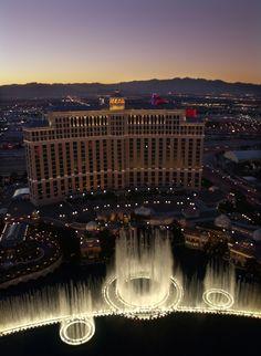 Confira as melhores fontes pelo mundo - Founte do Bellagio, Las Vegas, EUA