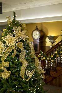 decoracion arbol navidad amarilla