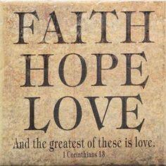 Faith Hope Love Engraved Tile