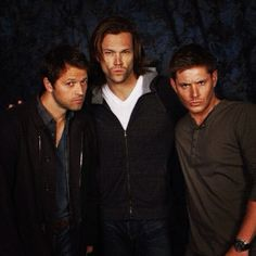 Misha Collins AKA Castiel  Jared Padalecki AKA Sam Winchester  Jensen Ackles AKA Dean Winchester