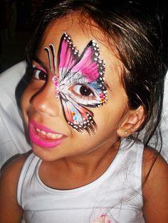Pintura Facial / Maquiagem Artística Borboleta - Butterfly Face Painting