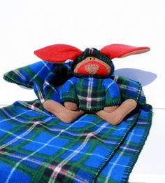McPlaid Bunny Blankie Nova Scotia Tartan by TwistedKnickersInc, $59.00